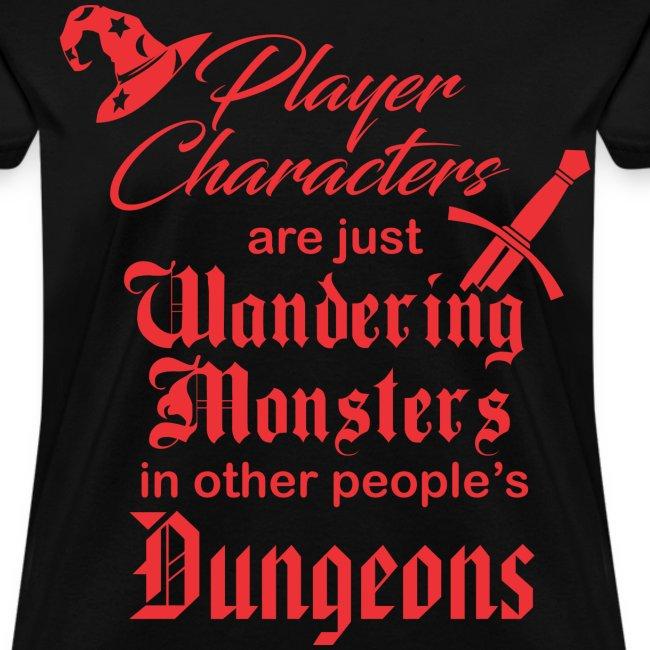 Player Character Wandering Monster Women's Premium T-Shirt