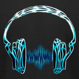 Headphone, Music, wave, Audio, Frequency, DD T-Shirts - Men's T-Shirt by American Apparel