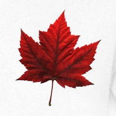 Men's Canada T- Shirt Souvenir Red Maple Leaf  Rin