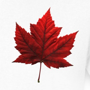 Men's Canada T- Shirt Souvenir Red Maple Leaf  Rin - Men's V-Neck T-Shirt by Canvas