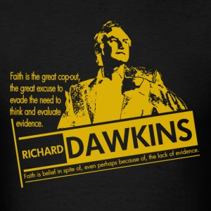Richard Dawkins - Lack of Evidence - Men's T-Shirt