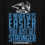 Design ~ Stronger| CutAndJacked | Womens hoodie (back Print)