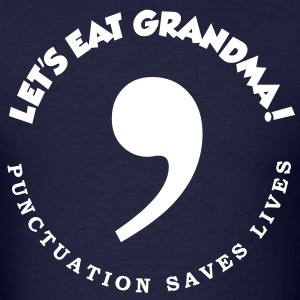 Commas saves lives - Men's T-Shirt