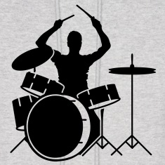 A drummer and drums Hoodies