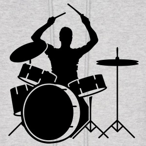 A drummer and drums Hoodies - Men's Hoodie