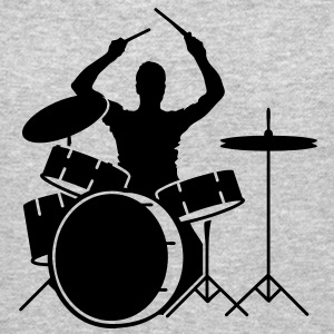 A drummer and drums Long Sleeve Shirts - Crewneck Sweatshirt
