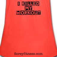 Design ~ Guilty - I Killed My Workout Fitspiration Flowy Tank Top