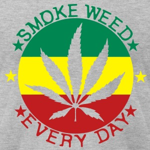 smoke weed every day T-Shirts - Men's T-Shirt by American Apparel