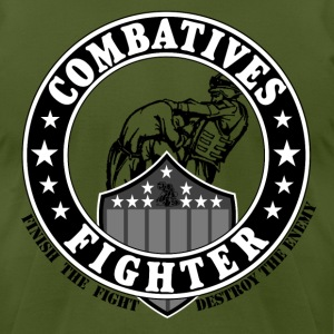Combaives Fighter Shield.png T-Shirts - Men's T-Shirt by American Apparel