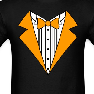 Tuxedo Orange Fun T-Shirt - Men's T-Shirt