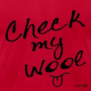 Check My Wool T-Shirts - Men's T-Shirt by American Apparel