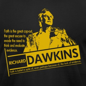 Richard Dawkins - Lack of Evidence - Men's T-Shirt by American Apparel