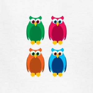 colorful owls - Kids' T-Shirt