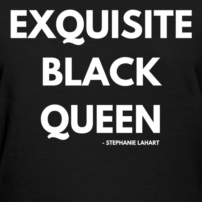 Exquisite Black Queen Black Women's T-shirt Clothing by Stephanie Lahart. #10
