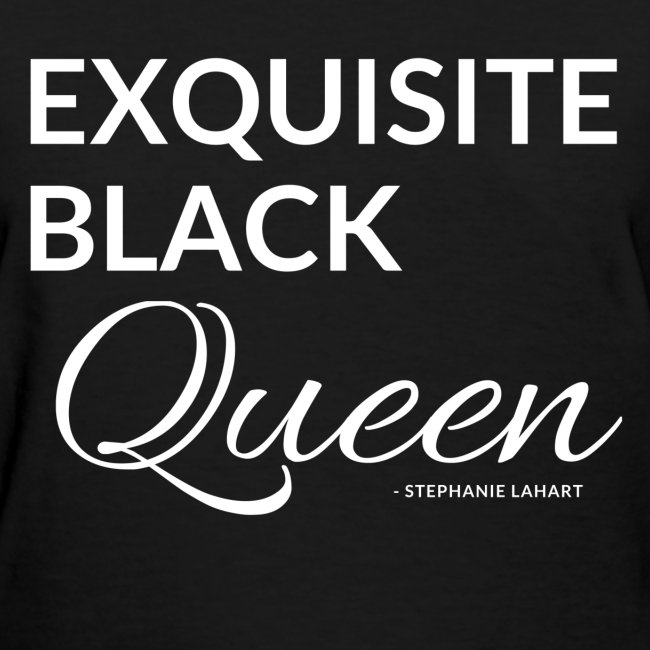 Exquisite Black Queen Black Women's T-shirt Clothing by Stephanie Lahart. #12