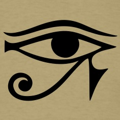 EYE of Horus/ Ra, reverse moon eye of Thoth/ T-Shirts