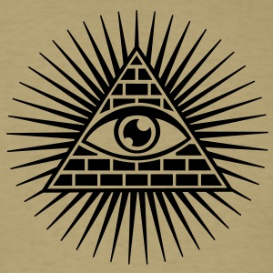 eye of providence, pyramid, all seeing eye, god T-Shirts - Men's T-Shirt