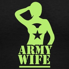 Sexy lady ARMY wife saluting Women's T-Shirts