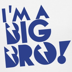 I'm a BIG BRO! brother in funky cool solid Women's T-Shirts - Women's V-Neck T-Shirt