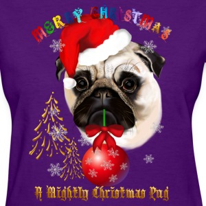 A Merry Christmas Pug - Women's T-Shirt
