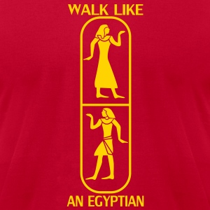 Walk like an egyptian T-Shirts - Men's T-Shirt by American Apparel