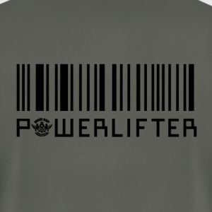 Powerlifter-Barcode T-Shirts - Men's T-Shirt by American Apparel