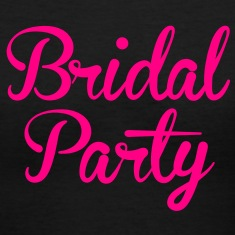 BRIDAL PARTY in cute fancy type Women's T-Shirts