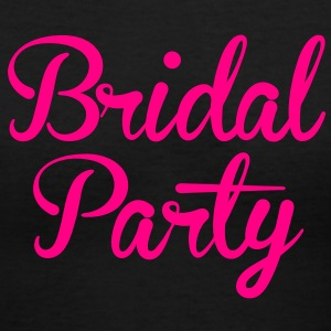 BRIDAL PARTY in cute fancy type Women's T-Shirts - Women's V-Neck T-Shirt