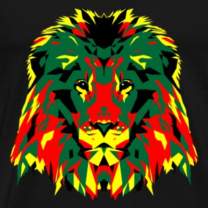 African Lion Poly Art