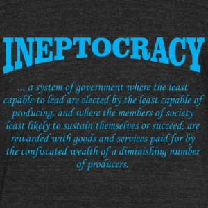 ineptocracy definition T-Shirts - Unisex Tri-Blend T-Shirt