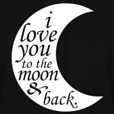 i love you to the moon & back Hoodies