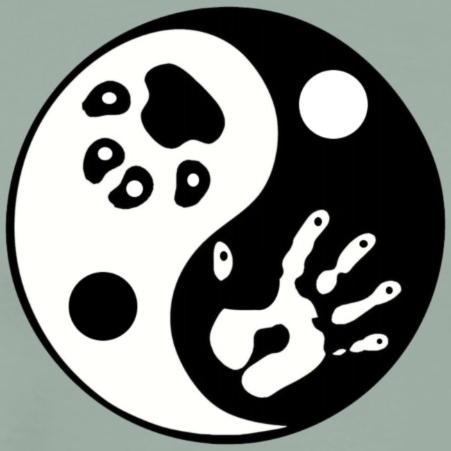 Ying Yang Paw and Hand Premium Shirt