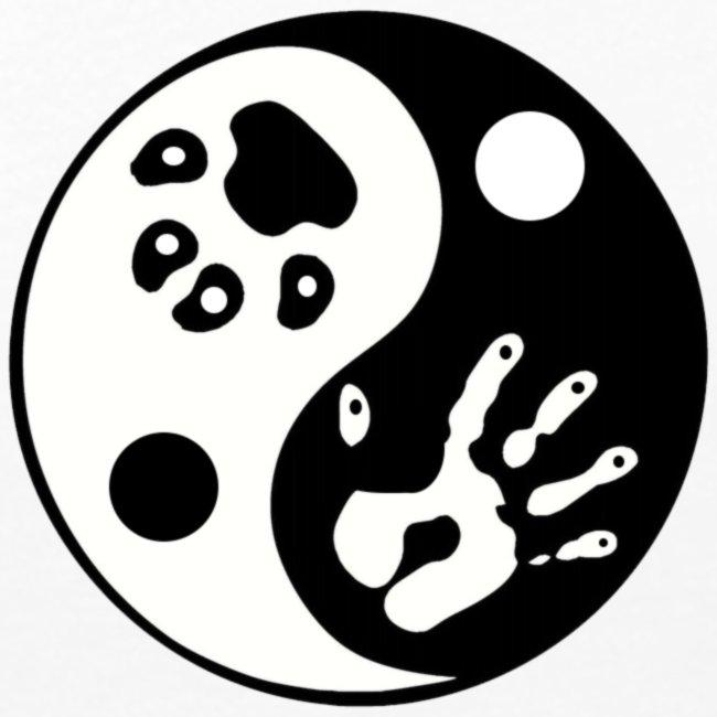 Ying Yang Paw and Hand Premium Long Sleeved Shirt