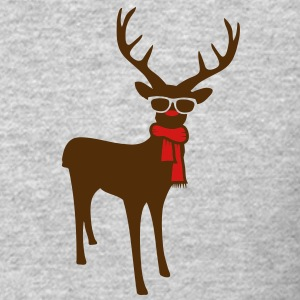 A reindeer with scarf and glasses Long Sleeve Shirts - Crewneck Sweatshirt