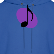 Design ~ Purple Music Emblem (Black) Hoodie
