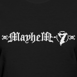 MayheM-7 - Logo 4 - White - Women's T-Shirt