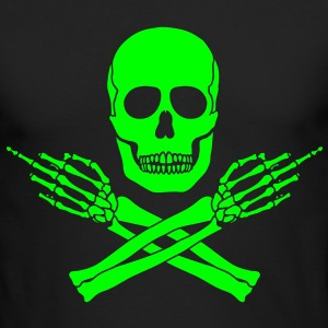 Glow Jolly Flippin Roger - Men's Long Sleeve T-Shirt by Next Level