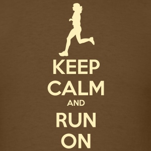 Keep Calm & Run Men's Shirt - Men's T-Shirt