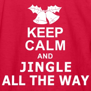 Keep Calm and Jingle All The Way Kids' Shirts - Kids' Long Sleeve T-Shirt