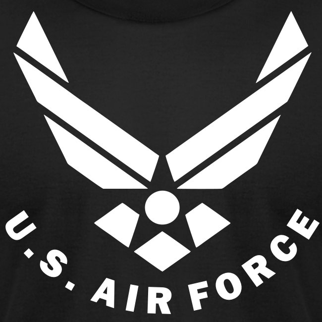 Wokestore US Air Force Logo Vector Mens Jersey TShirtU.s. Air Force Logo Black And White