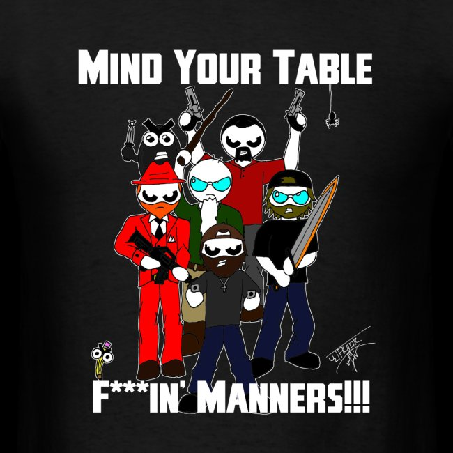 Table Manners Men's T-Shirt (Bleeped)