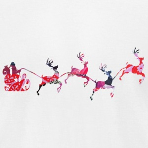 SANTA SLEIGH REINDEER T-Shirts - Men's T-Shirt by American Apparel