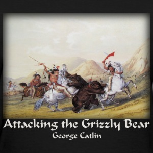 Catlin - Attacking the Grizzly Bear - Women's T-Shirt