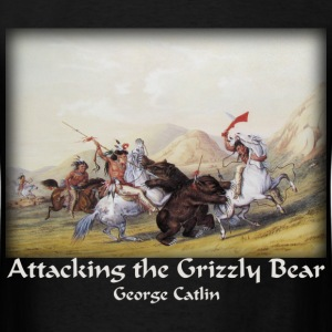 Catlin - Attacking the Grizzly Bear - Men's T-Shirt