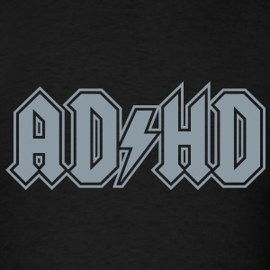 ADHD AC/DC Rock Band Logo - Men's T-Shirt