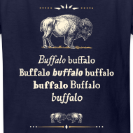 Design ~ Kids: Buffalo Buffalo T-shirt (navy)