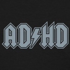 ADHD rock n' roll logo attention deficit disorder Women's T-Shirts