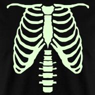 Design ~ mens glow ribcage skeleton tee