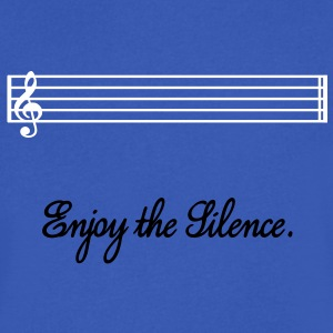 enjoy the silence T-Shirts - Men's V-Neck T-Shirt by Canvas