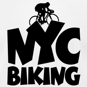 NYC Biking T-Shirt - Men's T-Shirt by American Apparel